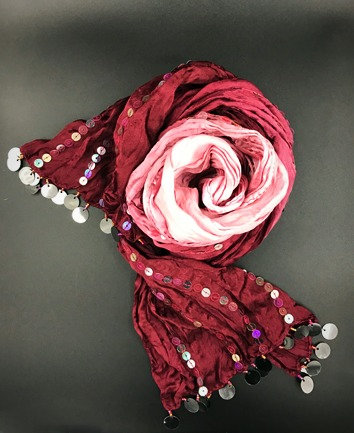 Burgundy Ombre Scarf