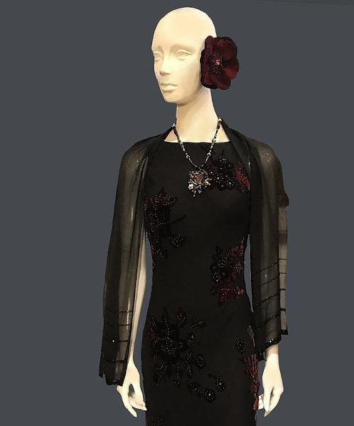 Black Floral Dress (3/4)