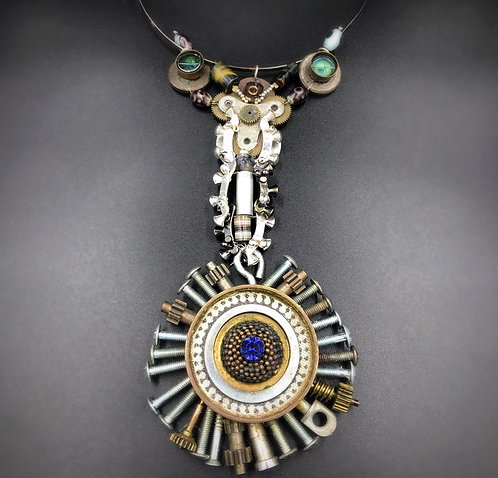 Toolbox handmade one of a kind jewelry art steampunk necklace Elizabeth Nicole