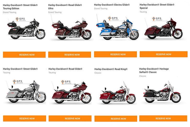 2021 Motorcycle Rentals Harley Davidson USA