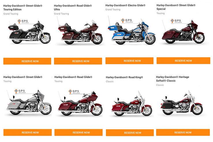 2021 Motorcycle Rental USA Harley Davidson