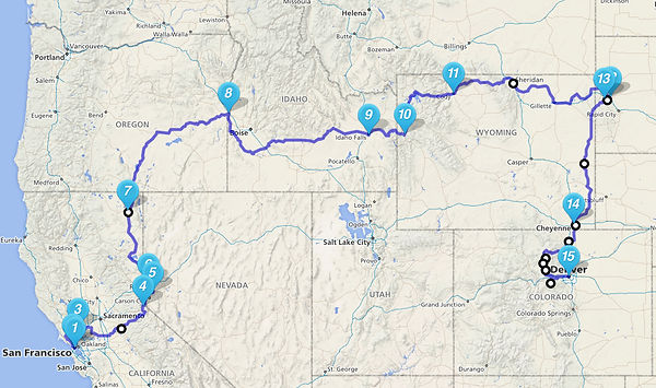 Sturgis Motorcycle Tour Route USA