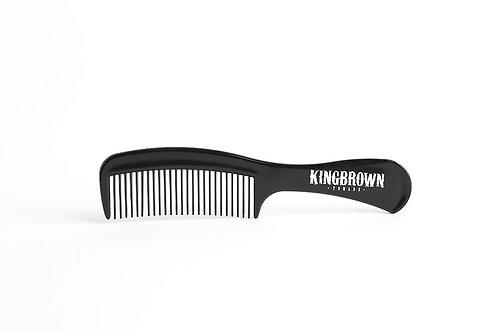 KingBrown black plastic handle comb