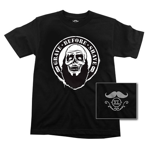Grave Before Shave Zombe Tee