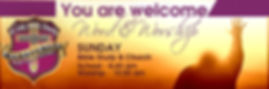 You are Welcom Banner