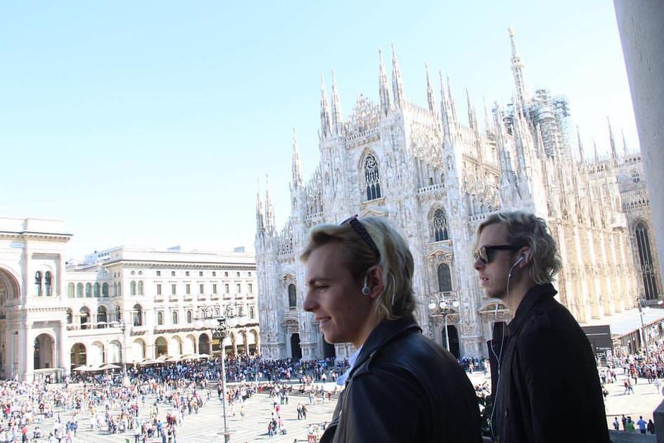Ross Lynch and Riker Lynch in Milan