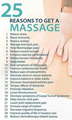 25 massage reasons