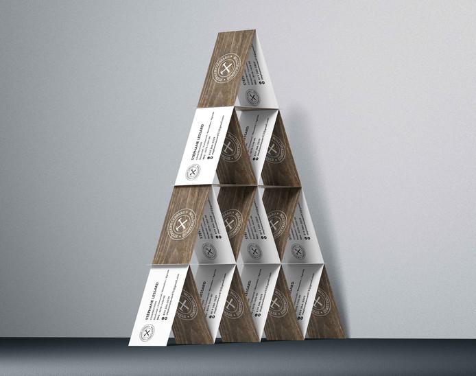 Carte d'affaire Construction pyramide_Mo