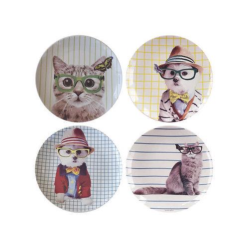 Conjunto Dogs and Cats (4 peças)