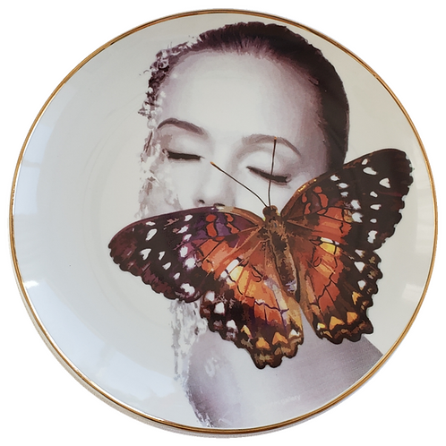 Butterfly Woman - com filete de ouro