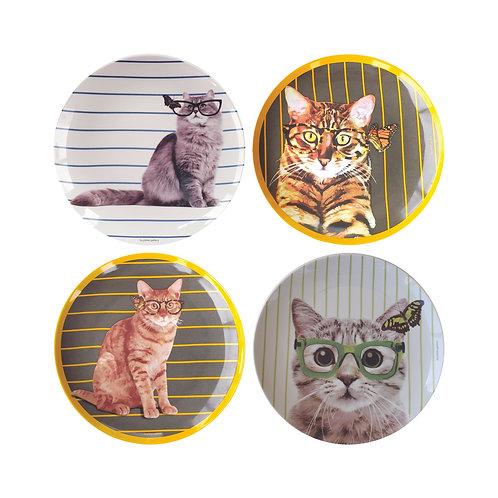 Conjunto Gatos (4 peças)