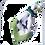 Thumbnail: Guardanapo Isabelle e branco borboletas