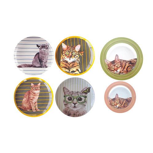 Conjunto Gatos (6 peças)