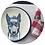 Thumbnail: Guardanapo xadrez G bordô e branco