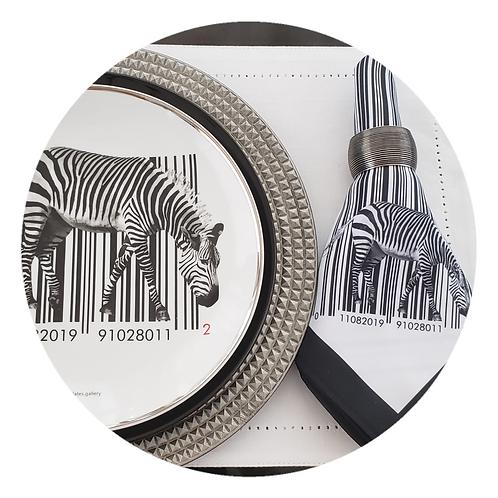 Bar code zebra - com guardanapo (2 peças)