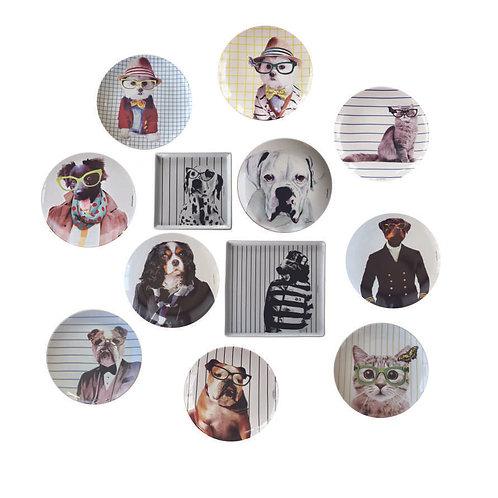 Conjunto Dogs and Cats (12 peças)