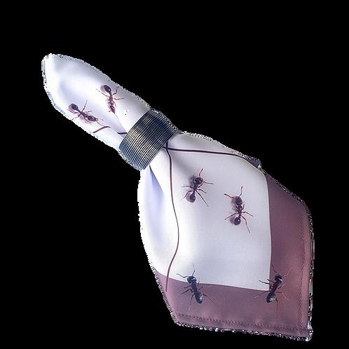 Guardanapo formigas branco