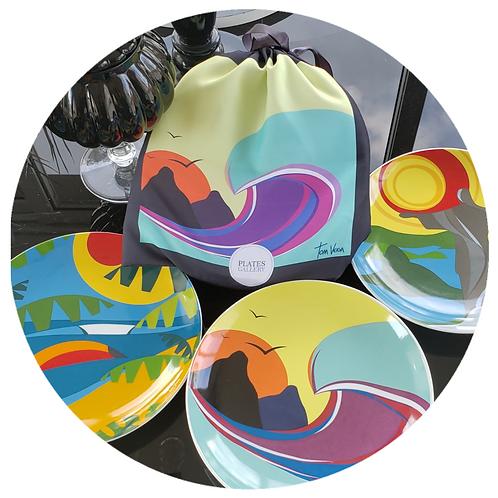 Conjunto Tom Veiga para presente (3 pratos e uma embalagem para presente)