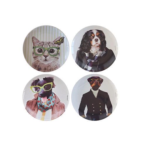 Conjunto Dogs and Cats  II(4 peças)