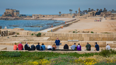 Caesarea Maritima overlooking the harbor