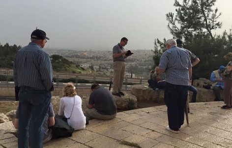 Entering Jerusalem - near Mount Scopus