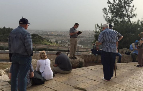 Entering Jerusalem - near Mount Scopus