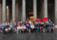Our group (Friday) at the Pantheon