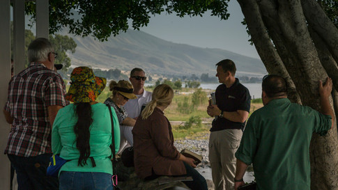 On the northeastern shore of the Sea of Galilee