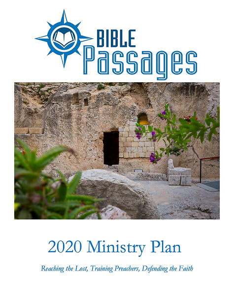 2020 Ministry Plan for Bible Passages -