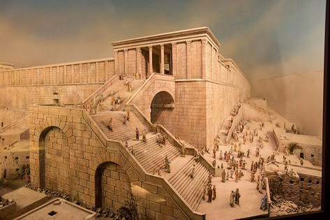 A model of the Temple showing Robinson's Arch
