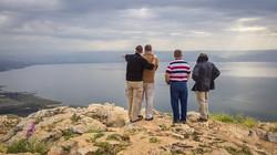Atop Mt. Arbel in Galilee