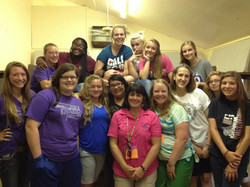 Cabin Two girls at Hensel Camp