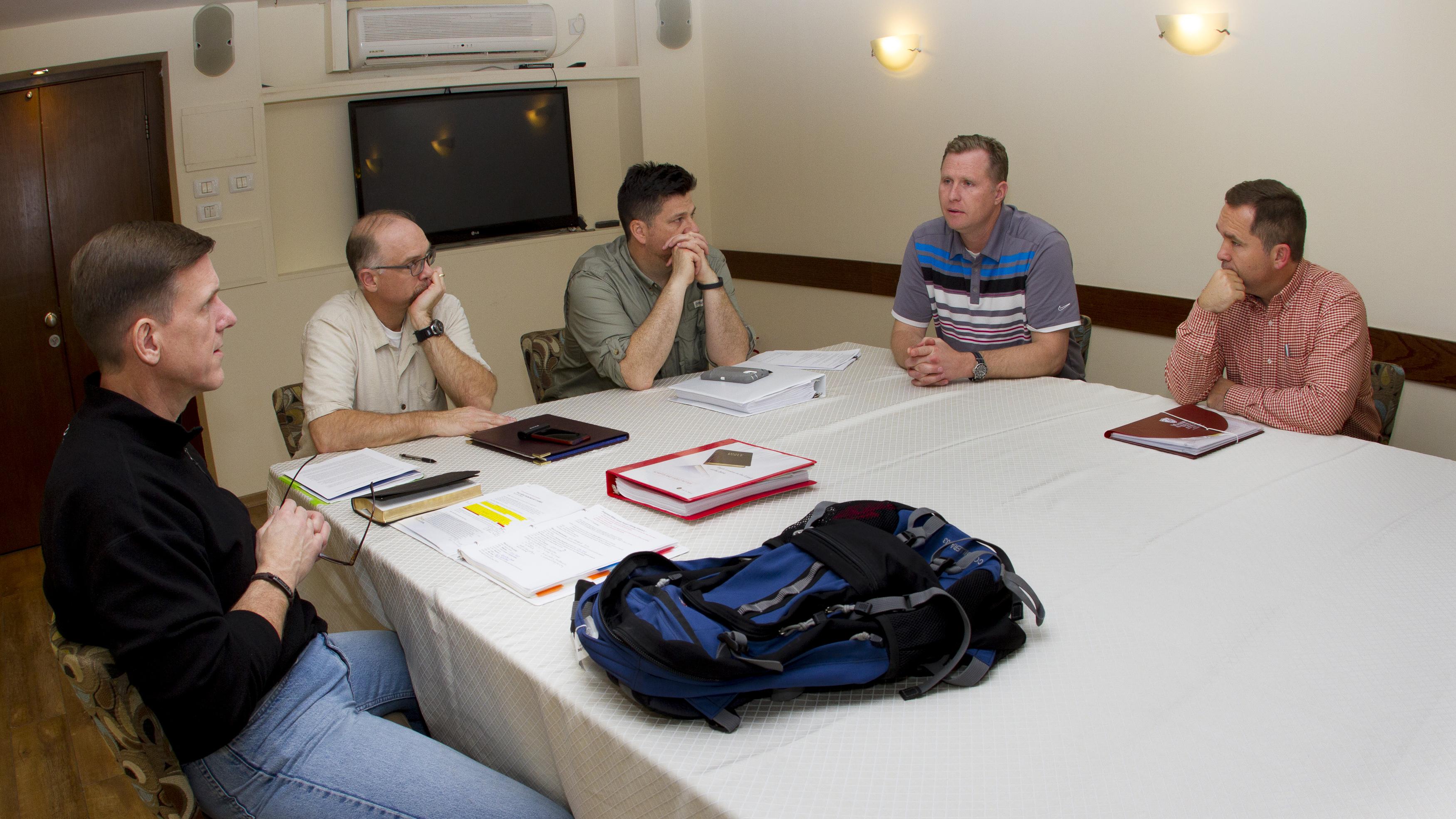 Planning session in Caesarea