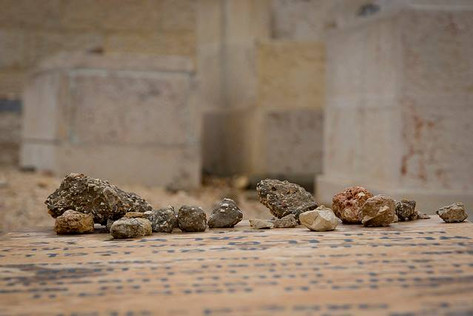 Rocks atop tombs on the Mount of Olives