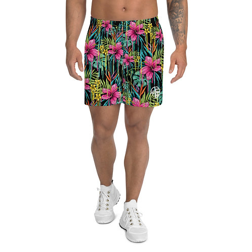 Men's Floral Drip Athletic Shorts