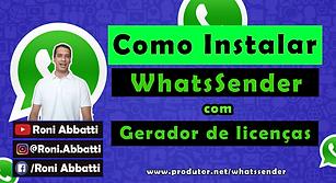 Como instalar WhatsSender com Gerador de
