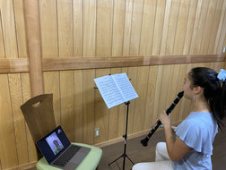 A Presto Music student from Tokyo receiving free clarinet lessons to prepare for auditions