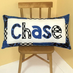 PILLOW Racing Blue Chase SQUARE