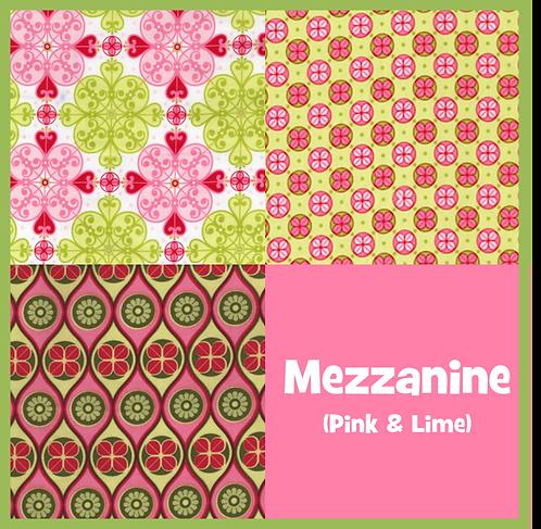 COZY Pillow - Mezzanine (Pink & Lime)