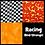 Thumbnail: COZY Pillow - Racing (Red/Orange)