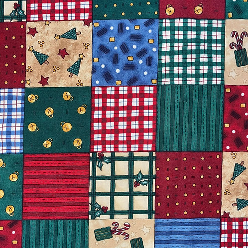 Face Mask - Christmas Patchwork