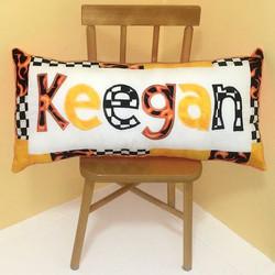 PILLOW Racing Orange Gold Keegan SQUARE