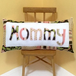 PILLOW City Girl Pink Mommy SQUARE