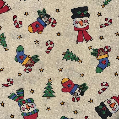 Face Mask - Christmas Snowman Toss
