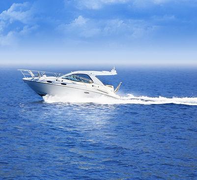 White boat in the ocean