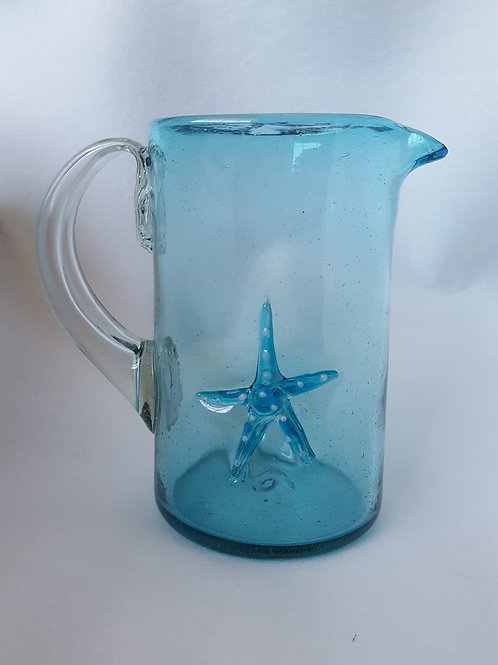 Gulf Blue Starfish Decanter