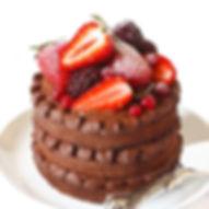 November birthday cake recipe. Mini 3-tier chcoclate pudding cake