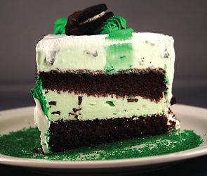 March Birthday Cake Recipe.Mint chocolate chip ice cream cake