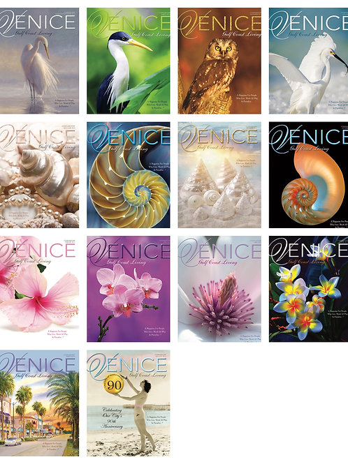 14 Collectible Issues. Venice Gulf Coast Living Magazine