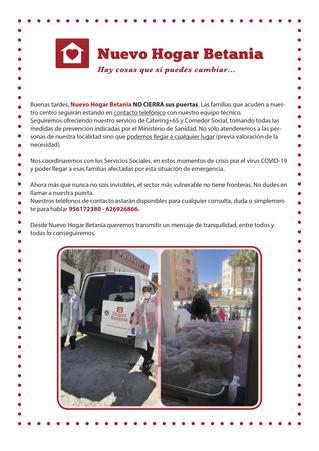 Nuevo Hogar Betania NO CIERRA sus puertas al sector más vulnerable